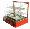 Omcan (Fma) 'Food Warmer/Display CaseCurved Glass(2) TierBottom Holds (2) PansTemperature Control1.2 Kw, Model# 21479