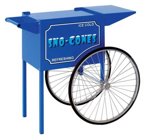 Paragon Medium Blue Sno Cone Machine Cart, Model# 3050010