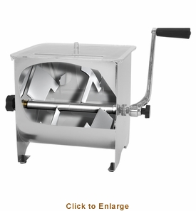 Sausage Maker  Stainless Steel Manual Meat Mixer - 20 Lb Capacity, Model# 44100