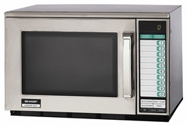 Sharp 2100 Watt Dual Magnetron Commercial Microwave Oven Model R 25jtf