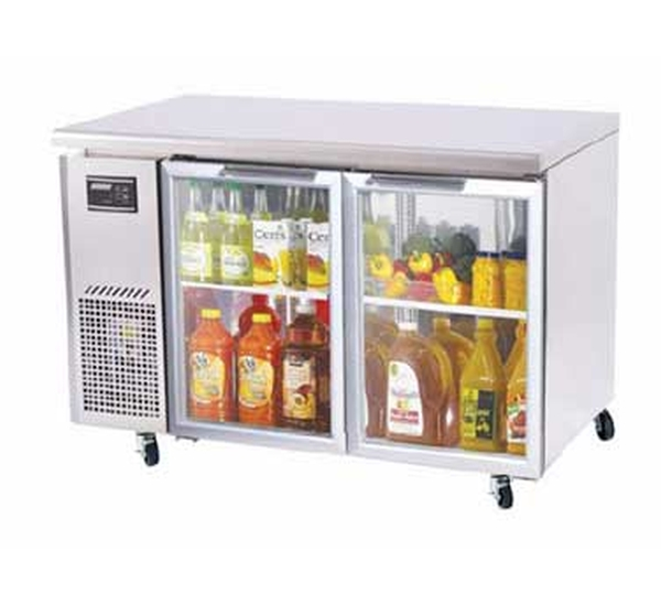 Turboair J Glass Door Undercounter Side Mnt Fridgejur 48 G N