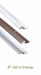 Aluminum Weather Stripping for Doors, 84 In x 36 In $15.85/ea Case of 25