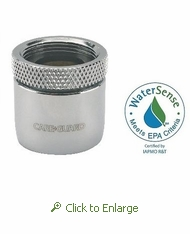 Careguard 1.5 gpm Faucet Aerator w/Agion Antimicrobial, Price Pfister Female 3/4 - 27, Laminar Flow