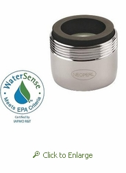 PCA Perlator 1.0 gpm Faucet Aerator, Reg Size, Dual Thread: Male 15/16 and Female 55/64 - 500 Pack