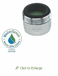 PCA Perlator 1.5 gpm Faucet Aerator, Reg Size, Dual Thread: Male 15/16 and Female 55/64 - 500 Pack