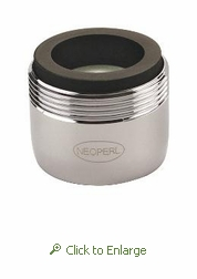PCA Spray 0.5 gpm Faucet Aerator, Reg Size, Male 15/16 and Female 55/64 - 500 Pack