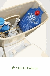 Toilet Tank Bank - Save up to .8 gallons per flush