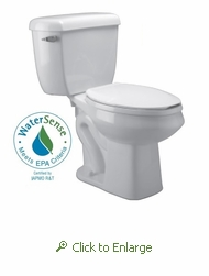 Zurn Z5571 1.0 gpf Pressure Assist Elongated, Two Piece Toilet