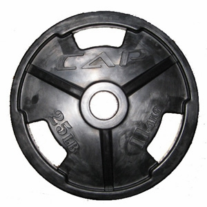 "Cap 2"" Rubber Olympic Grip Plate 25lb"