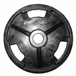 """Cap 2"""" Rubber Olympic Grip Plate 35lb"""