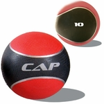 Colored Rubber Medicine Ball; 10 LB RED