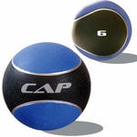 Colored Rubber Medicine Ball; 6LB Blue