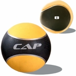 Colored Rubber Medicine Ball; 8 LB Yellow