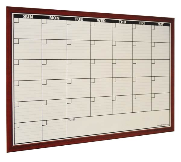 Dry Erase Calendar Decal : Dry erase calendar decals with fake frame print