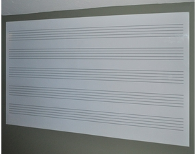 Dry Erase Music Staff Decal