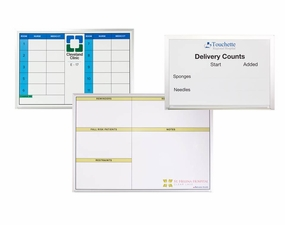 Non-Magnetic Custom Printed Dry Erase Hospital Boards
