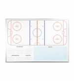 Non-Magnetic Hockey Dry Erase Board