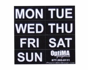 Magnetic Days of the Week