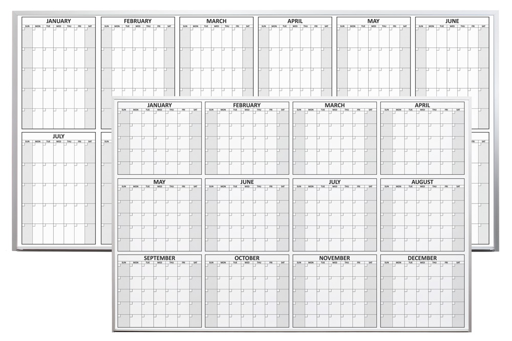 Year Calendar Whiteboard : Magnetic dry erase yearly planning calendar