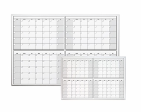 Magnetic Four Month Dry Erase Calendar