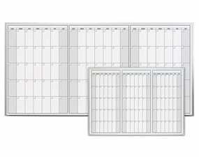 Magnetic Three Month Dry Erase Calendar