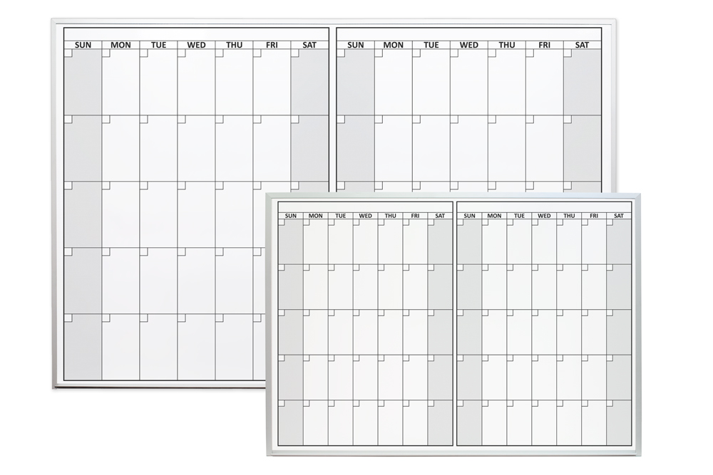 Dry Erase Calendar Magnetic : Magnetic two month dry erase calendar