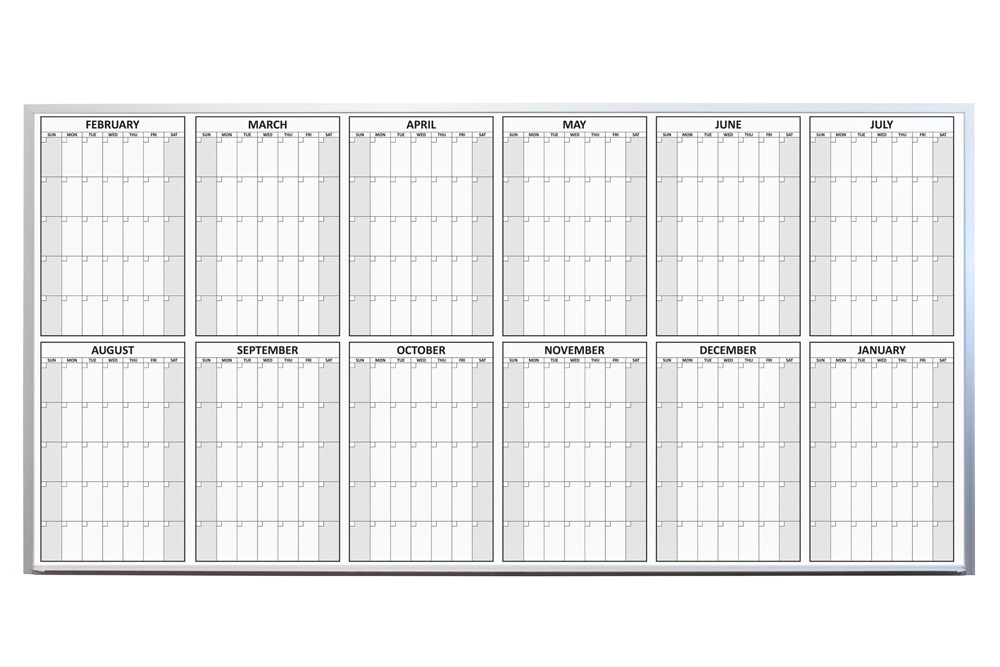 Year Calendar Magnetic : Magnetic dry erase yearly planning calendar