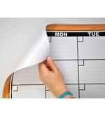 Dry Erase Calendar Decals with Fake Frame Print