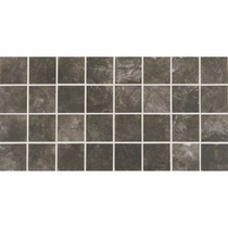 American Olean Bevalo Charcoal Mosaic 3 x 3