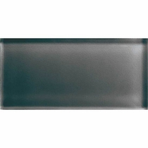 "American Olean Color Appeal Charcoal Gray 3"" x 6"""
