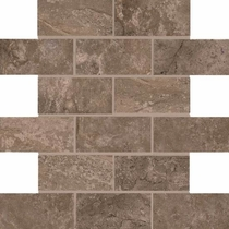 "American Olean Laurel Heights Brown Pinnacle Brick Joint Mosaic 2"" x 4"""