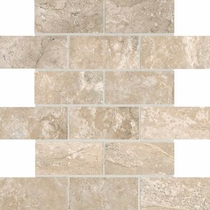 "American Olean Laurel Heights Elevated Beige Brick Joint Mosaic 2"" x 4"""