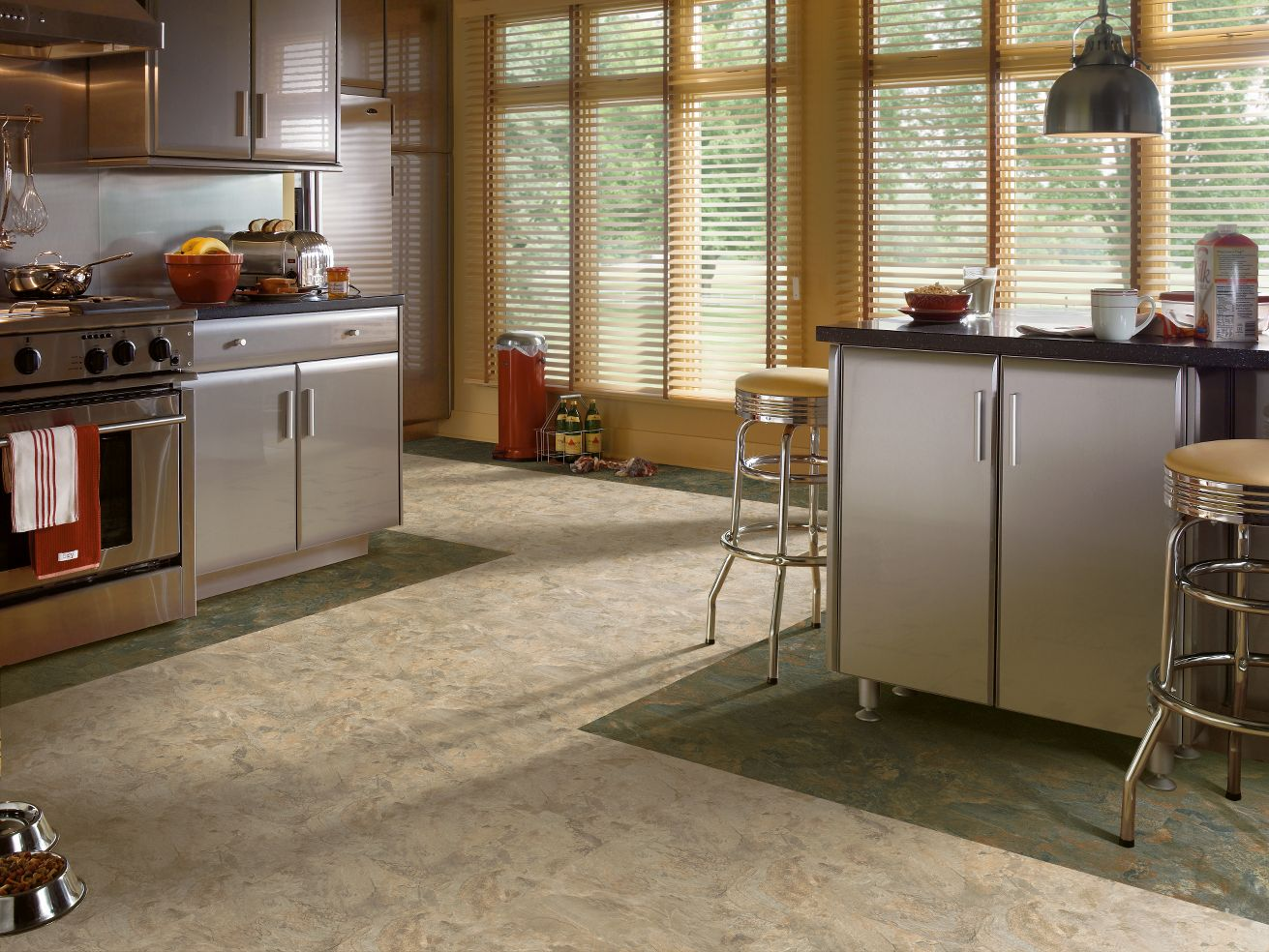 Armstrong alterna mesa stone light gray vinyl flooring for Armstrong homes price per square foot
