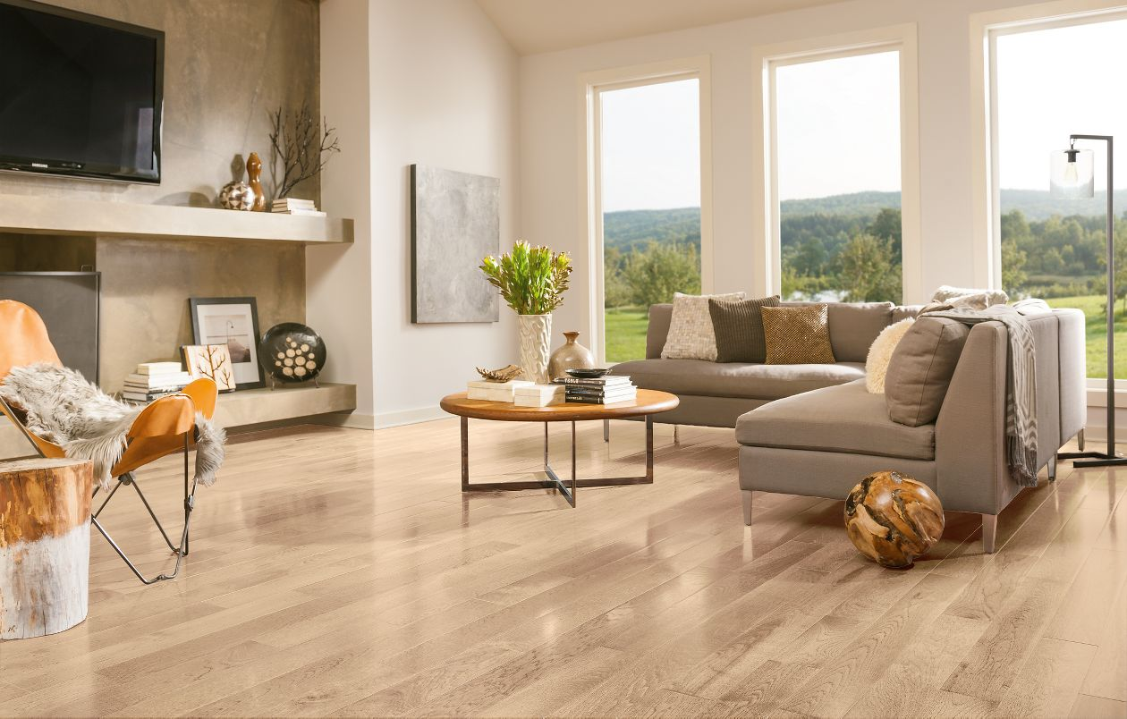 Armstrong Prime Harvest Oak Mystic Taupe High Gloss 3 1 4