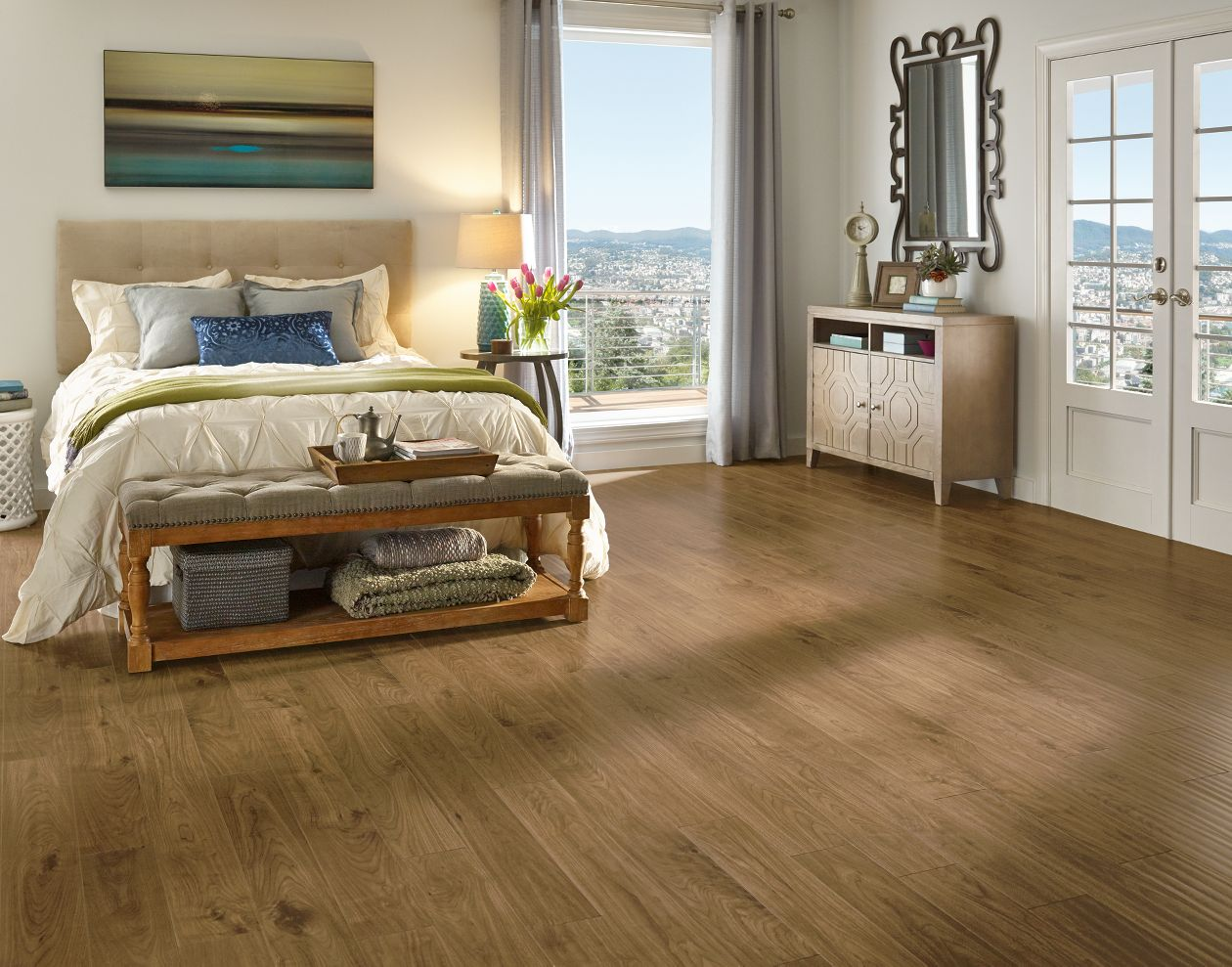 Armstrong rustics premium urban walnut scraped bronze laminate for Armstrong homes price per square foot