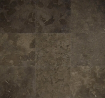 "Bedrosians Limestone Tile Vogue Brown Brushed 12"" x 12"""