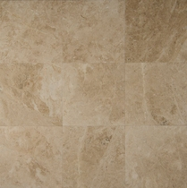 "Bedrosians Marble Tile Cappuccino Honed 18"" x 18"""