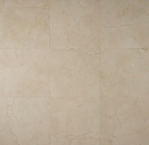 "Bedrosians Marble Tile Crema Marfil Select Honed 18"" x 18"""