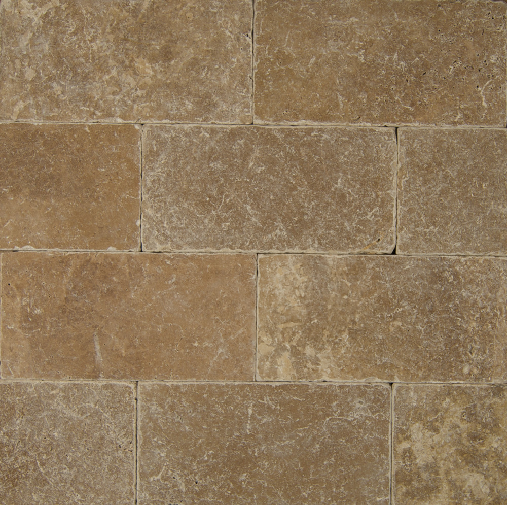 Bedrosians Pavers Travertine Tile Cobblestone Brown 16 X 24 Natural Stone Tile Trv Cobbrn1624t