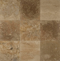 "Bedrosians Travertine Tile Desert Rustic 18"" x 18"""