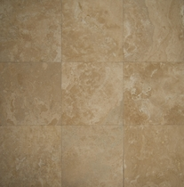 "Bedrosians Travertine Tile Durango Florito 18"" x 18"""