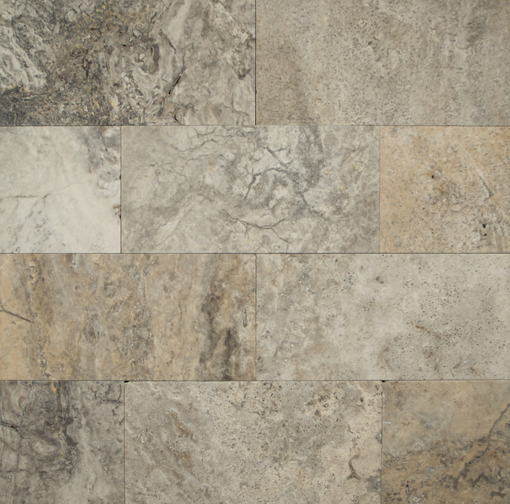 Bedrosians Travertine Silver Mist Tile Flooring