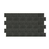 "Crossville Bluestone Vermont Black Honed 3"" x 6"" Mosaic"