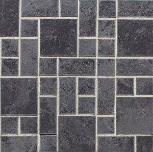 "Daltile Continental Slate 3"" x 3"" Asian Black Random Block Mosaic"