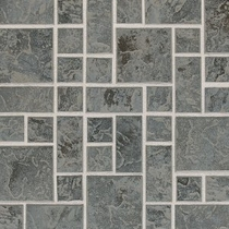 "Daltile Continental Slate 3"" x 3"" English Grey Random Block Mosaic"