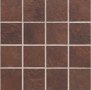 Daltile continental slate 3 x 3 indian red mosaic for Balterio laminate flooring india
