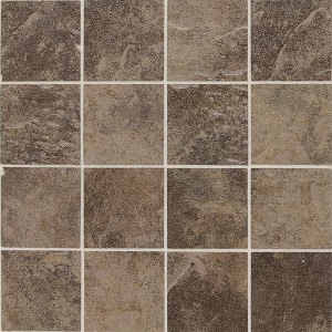 "Daltile Continental Slate 3"" x 3"" Moroccan Brown Mosaic"