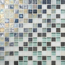 "Daltile Glass Horizons Atlantic Blend 12"" x 12"" Mosaic"