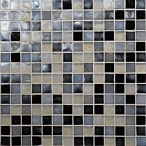 "Daltile Glass Horizons Baltic Blend 12"" x 12"" Mosaic"
