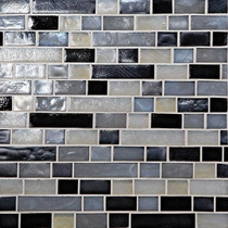 "Daltile Glass Horizons Baltic Blend 12"" x 12"" Random Linear Mosaic"